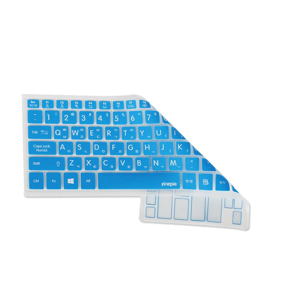 [첫 구매 시 30일 동안 무제한 무료배송] 파인피아 갤럭시북 플렉스 NT930QCG-K716A용 문자키스킨 B타입  BLUE  1개