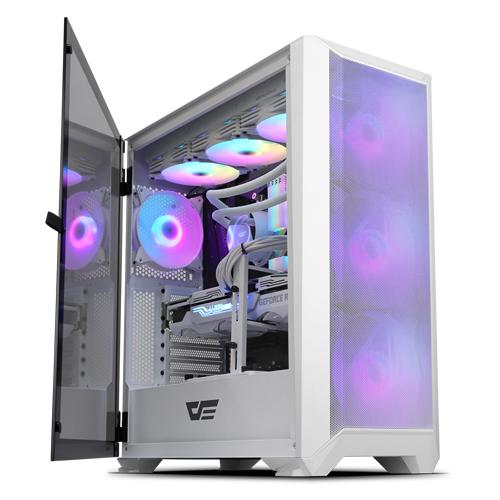 [첫 구매 시 30일 동안 무제한 무료배송] 다크프래쉬 DLX23 NEO MESH RGB 강화유리 미들타워 화이트