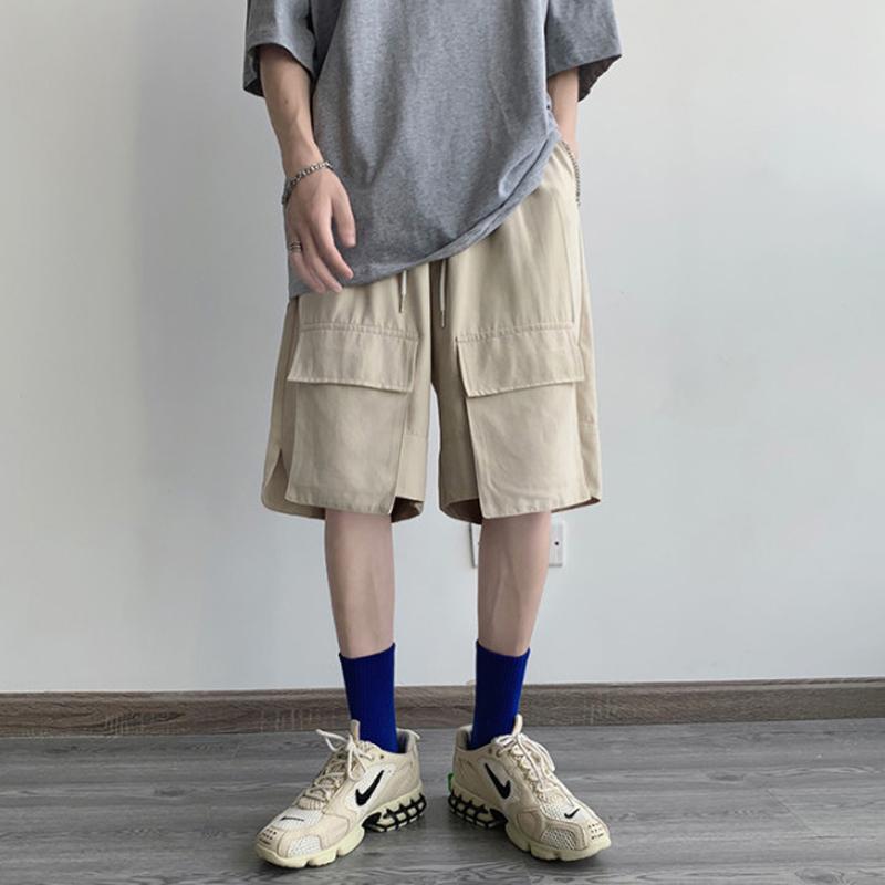 [해외] 로즈매더 남자 카고 여름 반바지 름 일본 밴드 입체 포켓 쇼츠 남 하라주