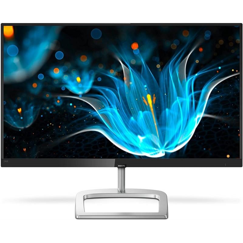 [해외] 필립스 246E9QDSB 24형 프레임리스 모니터 Full HD IPS 129% sRGB 75Hz FreeSync VESA 4년 사전 교  단일옵션