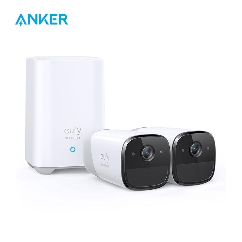 [해외] Anker eufy Security eufyCam 2 Pro 무선 홈 보안 카메라 시스템 365 일 배터리 수명 HomeKit 호환성 2K 해상도 가성비  {옵션:단일상품}