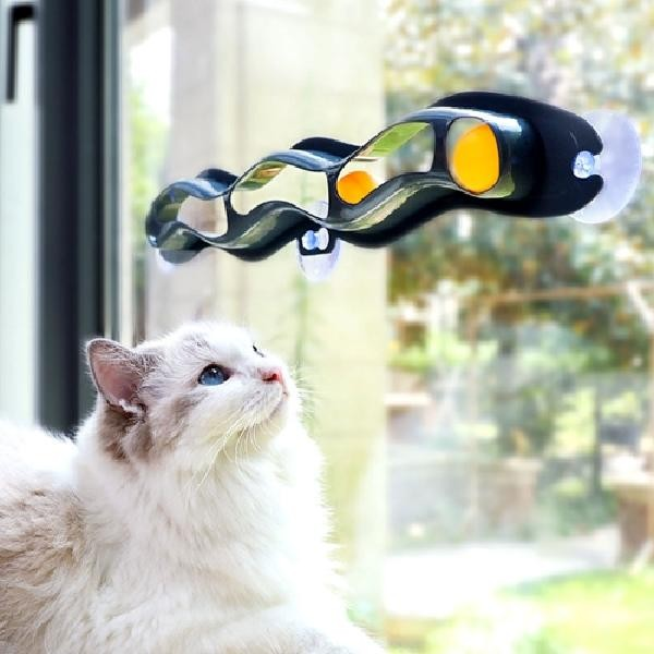 트랙 장난감 고양이 [애구애구] 공놀이 냥냥펀치토이볼  구슬기차 공놀이 장난감