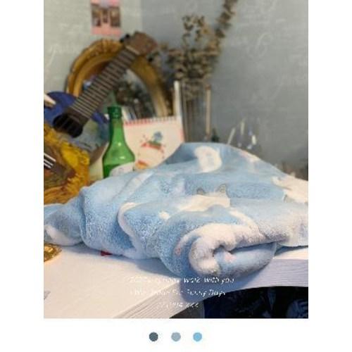 [해외] 사무실용소파 대기실 너와 산책해/가을겨울 담요 귀여운 고양이 베이비 블루 보온 소파  {색상 분류:02 블루카펫+티파니그린세트}  {치수:03 150x200cm(빅사이즈 홈웨어}