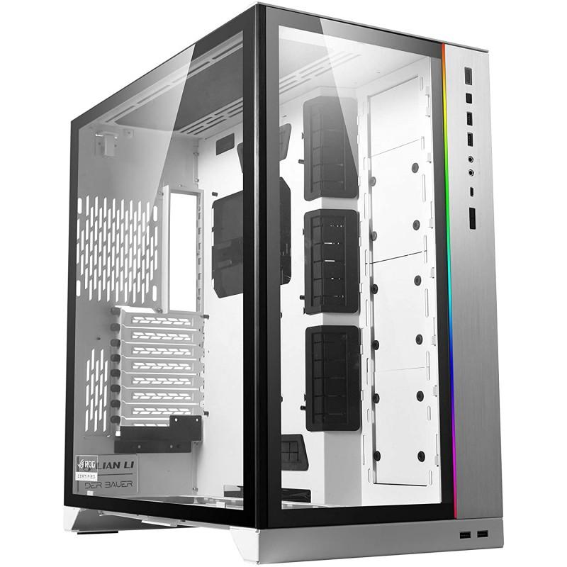 [해외] Lian Li O11 Dynamic XL ROG 인증(흰색) ATX 풀 타워 게이밍 컴퓨터 케이스(O11D XL-W): 컴퓨터 및 액세서리  단일옵션