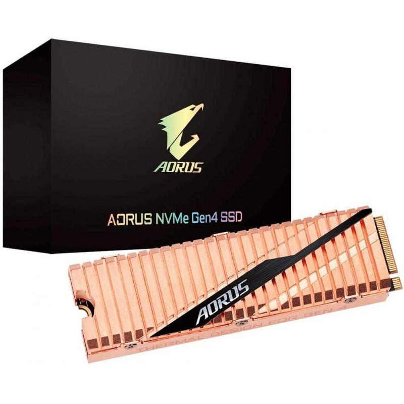 [해외] Gigabyte AROUS NVMe Gen4 M.2 2TB PCI-Express 4.0 인터페이스 고성능 게임  전신 구리 열 확산기  Toshiba 3D NAND  DDR 캐