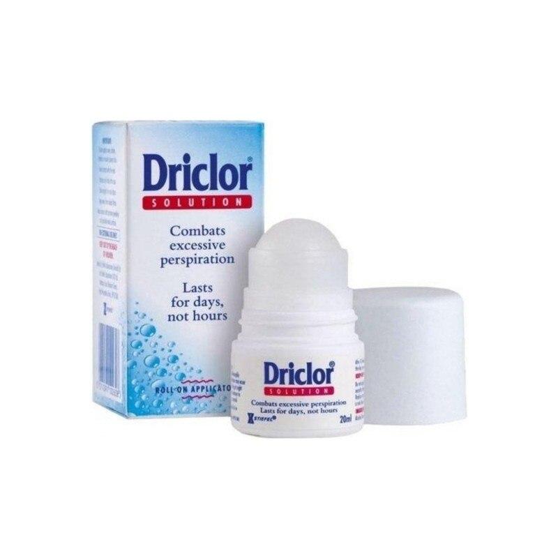 [해외] Driclor 발한 억제제 롤온 20 Ml 발한 억제 데오도란트 임상 강도 Hyperhidrosis Treatment arpit Sweat