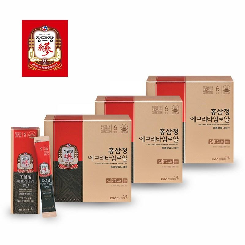 (홀리몰리)정관장 홍삼정 에브리타임로얄 10ml 30포 3세트(쇼핑백포함)
