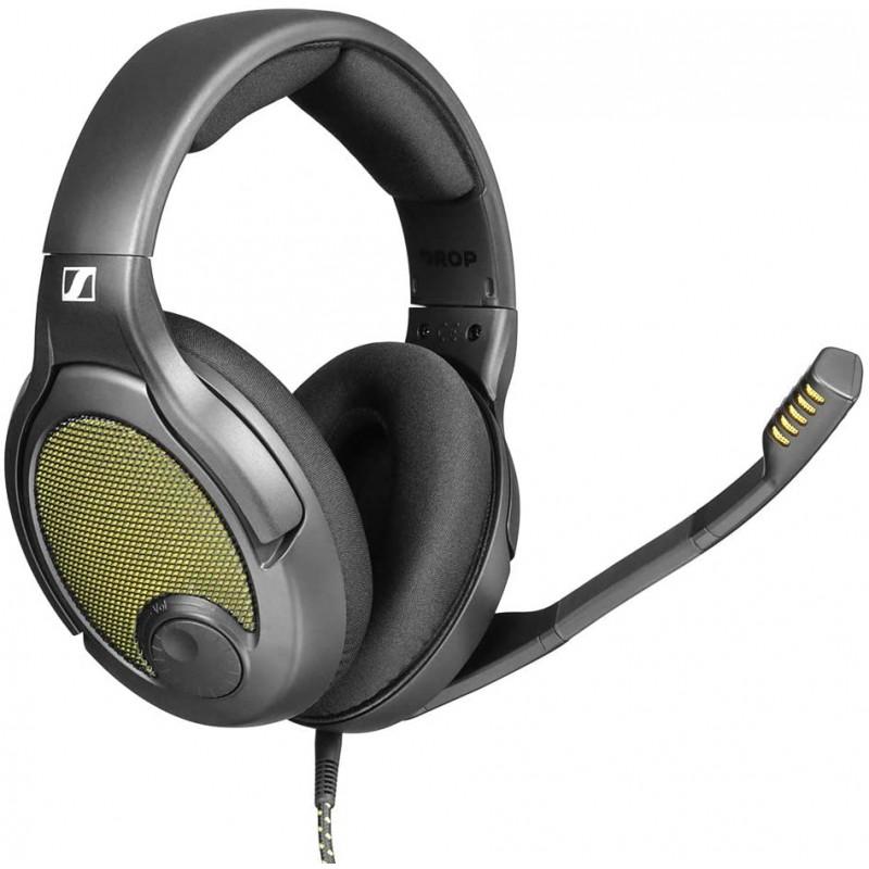 [해외] Drop + Sennheiser PC38X 게임 헤드셋  Over-Ear Open-Back Design 벨루어 이어패드 PC 게임 콘솔 및 모바일 장치와 호환  단일옵션  단일옵