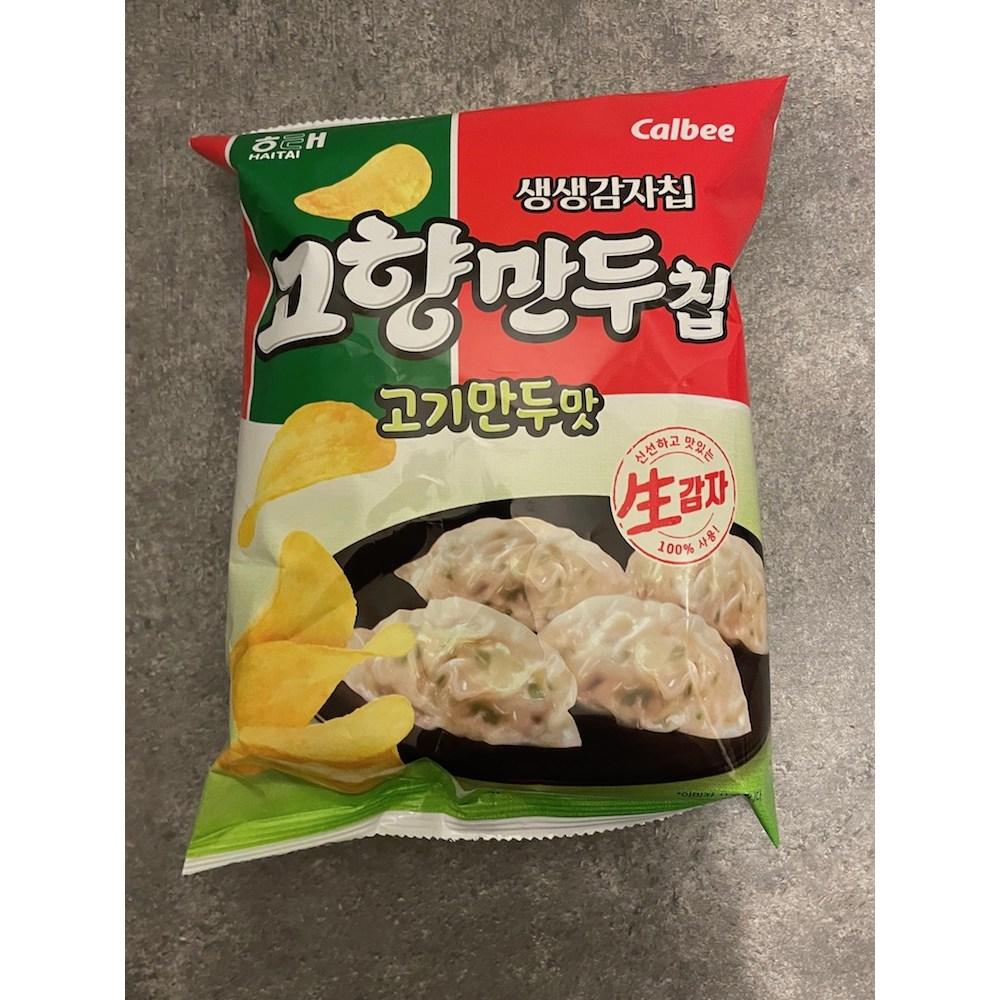 [생생감자칩] 고향만두 고기만두맛2개 + 김치만두맛2개 무료배송