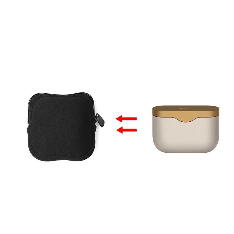 [해외] 소니 WF 1000XM3 무선 블루투스 이어폰 헤드셋 액세서리에 대 한 휴대용 마모 방지 스토리지 가방 운반 케이스 파우치