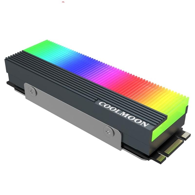 [해외] CPU 팬 쿨러 RGB 발열판 쿨링팬 공냉 수냉 팬컨트롤러 케이스 컴퓨터 커스텀 온도 튜닝 CM M7S M2 SSD 방열판 5V 3Pin NVME NGFF M.2 2280 하드