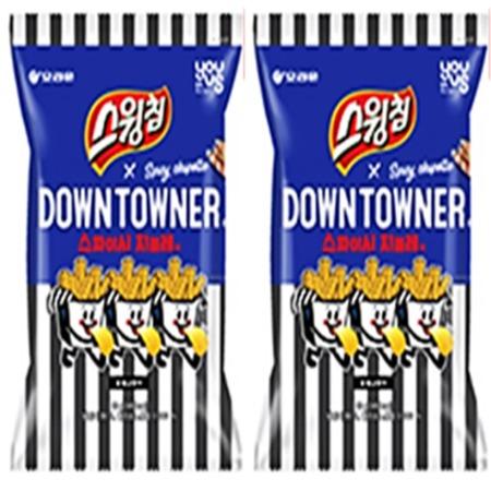 유어스 오리온 스윙칩 다운타우너 스파이시치폴레맛 감자칩 60g x 12개 한박스 (무료배송)