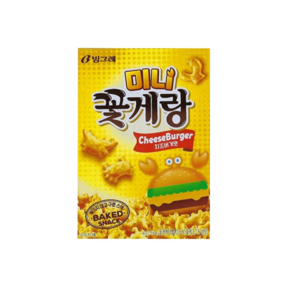 빙그렌 미니 꽃게랑 치즈버거맛 40g  2개
