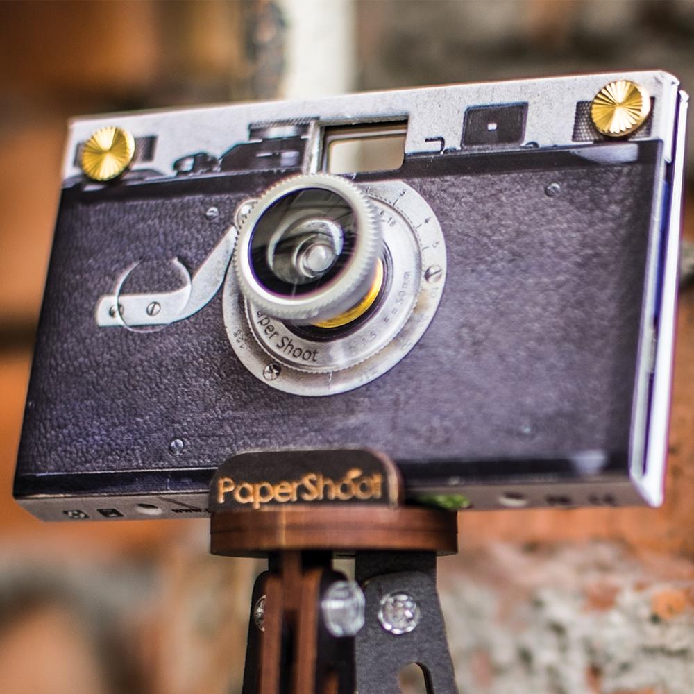 페이퍼슛 빈티지 시리즈 아날로그 빈티지 감성의 친환경 종이 디지털 카메라