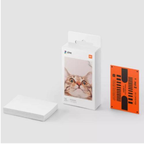 [해외] 샤오미 포켓 포토 프린터 휴대용 AR 즉석 사진 프린터 핸드폰 인화기 인화지 출력기 나혼자산다 강민경  Mi Pocket Print 즉석 인화지20매