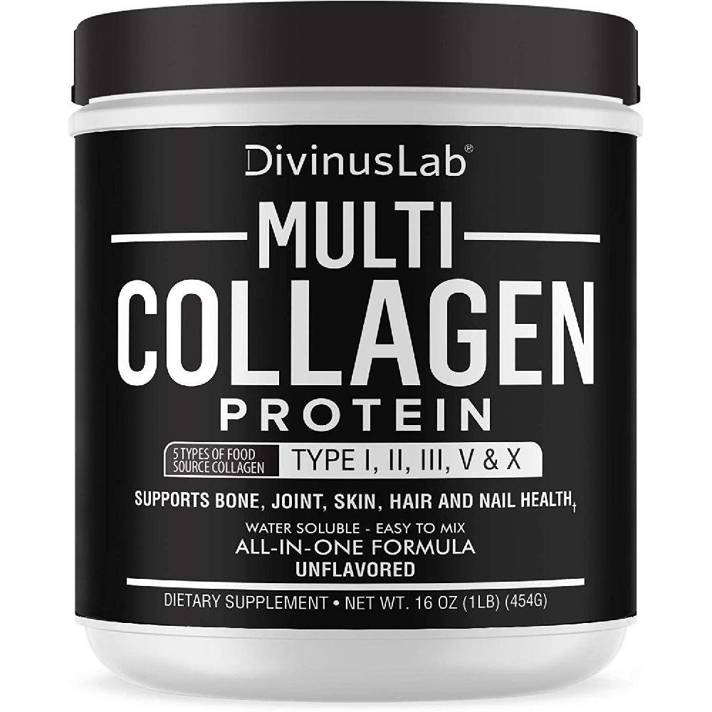 [해외] DivinusLab CPS 디비너스랩 멀티 콜라겐 단백질 파우더 454g  1개  1ml