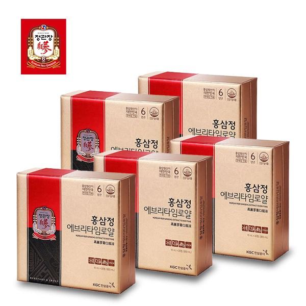 (홀리몰리)정관장 홍삼정 에브리타임로얄 10ml 30포 5세트(쇼핑백포함)