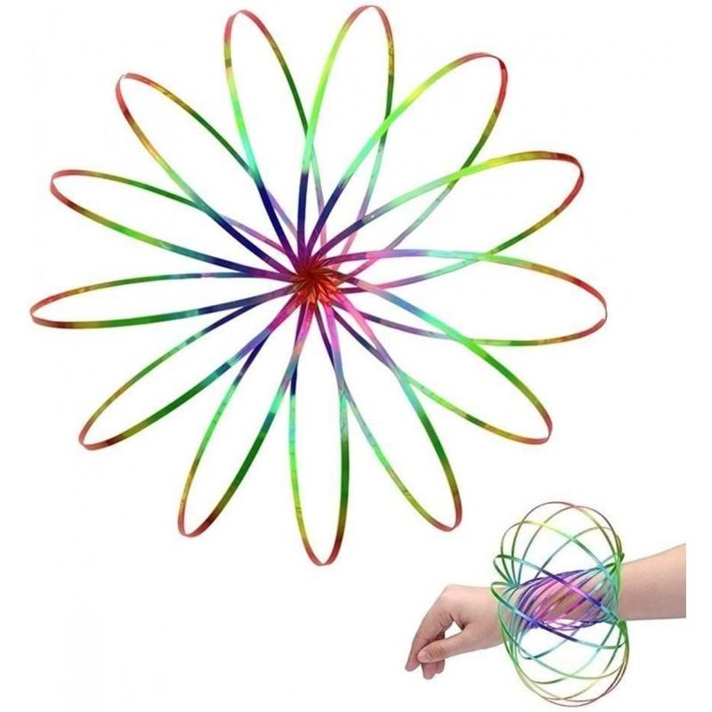 [해외] 놀라운 매직 흐름 반지 키네틱 교육용 봄 장난감 재미 있은 야외 게임 지능형 휴식 3D 키네틱 링 봄 팔찌