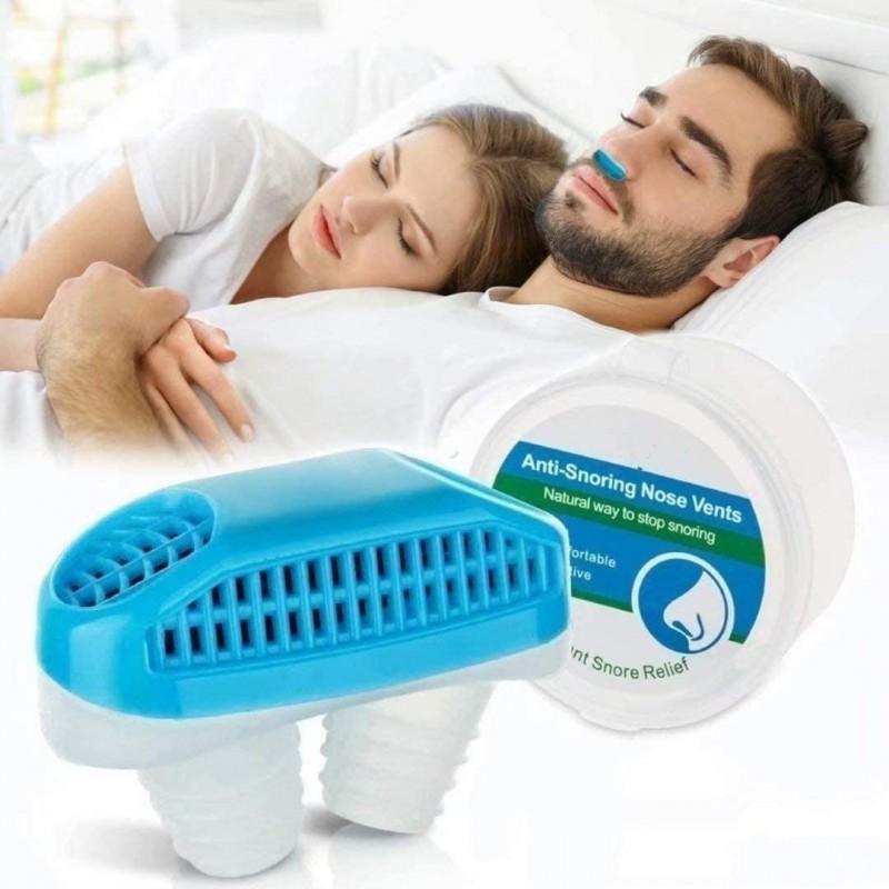 [해외] 2 in 1 안티 코골이 장치  코골이 중지 및 좋은 호흡을위한 코골이 스토퍼-안전하고 즉각적이며 효과적인 공기 청정기  편안한