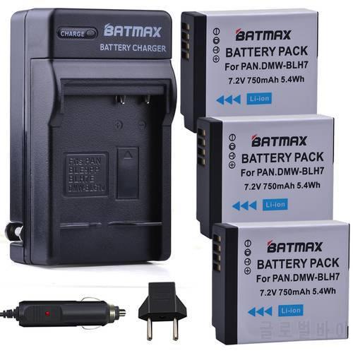 [해외] 3Pcs DMW-BLH7 BLH7 DMW-BLH7PP DMW-BLH7E 배터리+ 충전기 파나소닉 루믹스  상세내용참조