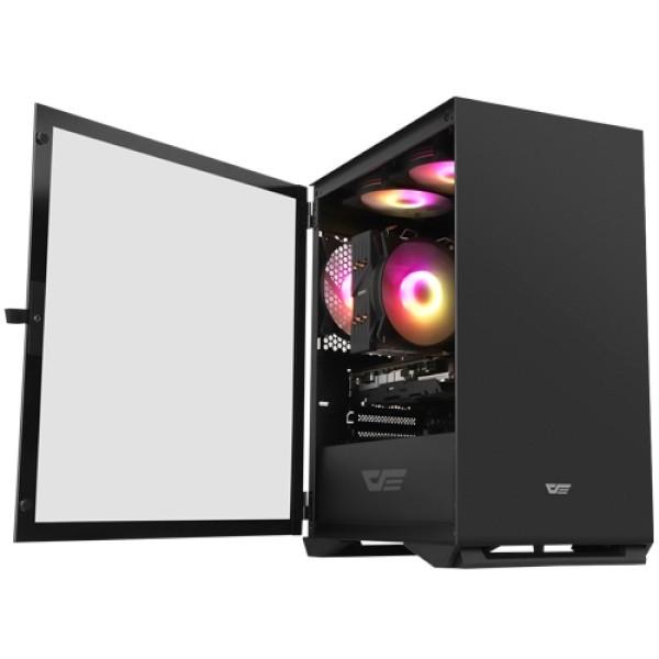 강화유리 RGB darkFlash 블랙 DLM22 미니타워  상세페이지 참조