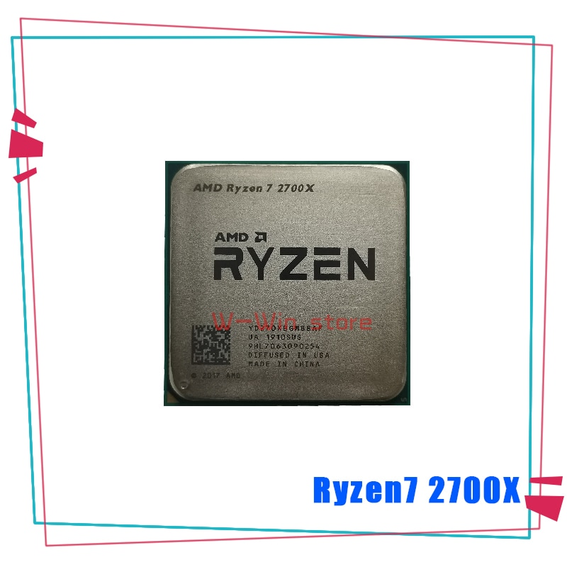 [해외] AMD RYZEN 7 2700X R7 3.7 GHZ 8 코어 SINTEN 스레드 16M 105W CPU 프로세서 YD270XBGM88AF 소켓 AM4