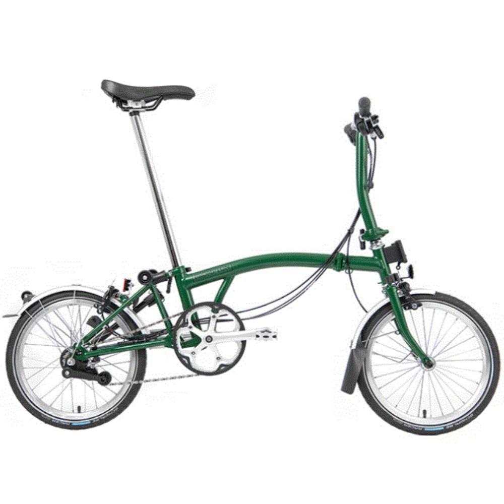 [해외] 브롬톤 6속 사이클 슈퍼라이트 S2L-X 트랙 로드자전거  16인치cm  엠바 블랙 6속