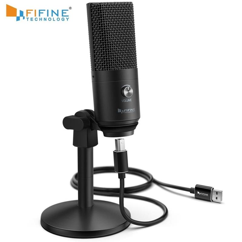 [해외] Macpc Windows용 FIFINE USB 마이크 다목적용 보컬 마이크 녹음에 최적화 음성 해설 YouTube Skype-K670B용  {배송 출발지:협력사}