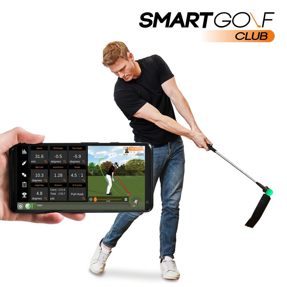 스마트골프클럽 홈 스크린골프 인공지능 스윙 연습기