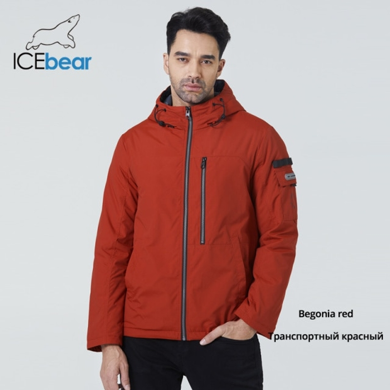 [해외] 2021 남성용 짧은 재킷 가을 세련된 후드 코트 남성 브랜드 의류 MWC21601I  {크기:54}  {배송 출발지:협력사}  M349