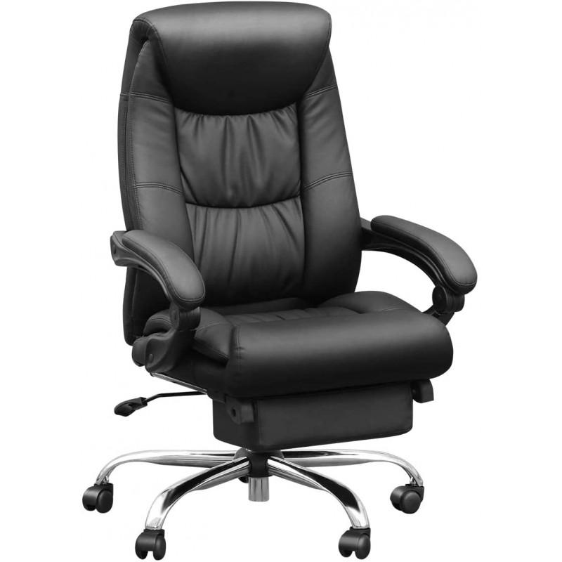 [해외] Duramont Reclining Leather Office Chair with Lumbar Support-High Back Executive Chair-두꺼운 Seat Cushi
