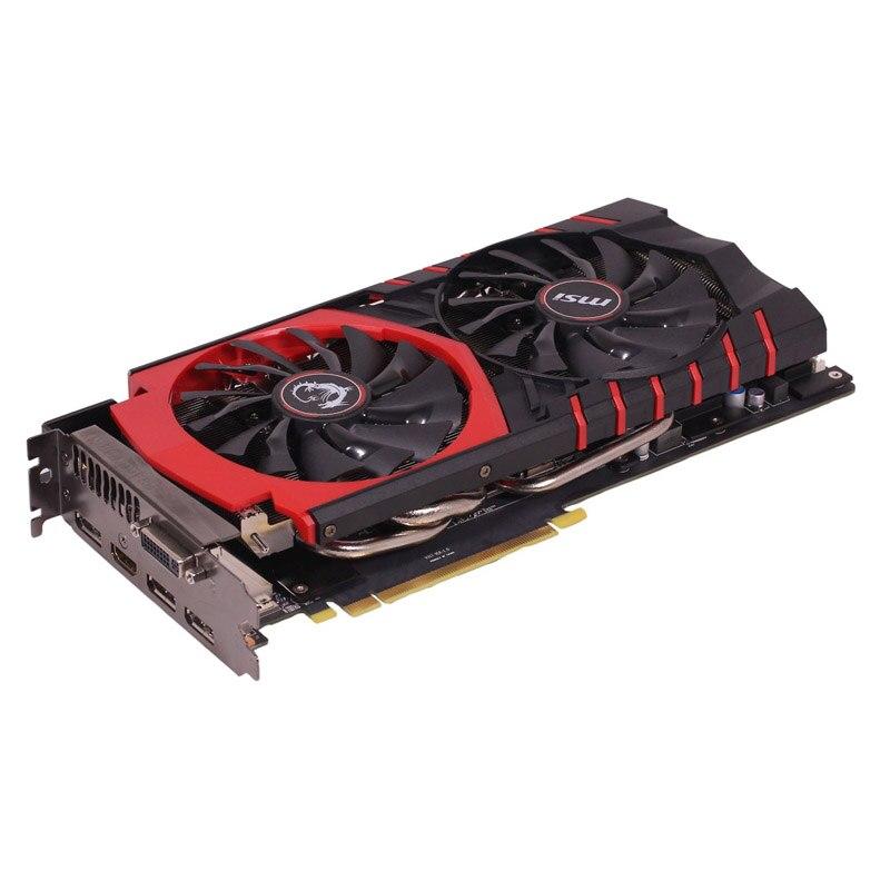[해외] MSI 그래픽 카드 GPU NVIDIA GEFORCE GTX 980 4GB D5 PLACA DE 비디오 카드 PUBG 컴퓨터 게임 데스크탑 맵 GTX 1080 960 1050TI