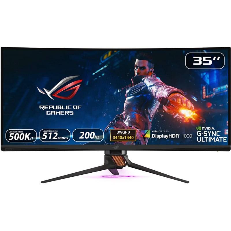 [해외] Asus Rog Swift PG35VQ 35 Curved HDR 게이밍 모니터 200Hz(3440 X 1440) 2ms Ultimate Eye Care 디스플레이포트 HDMI US