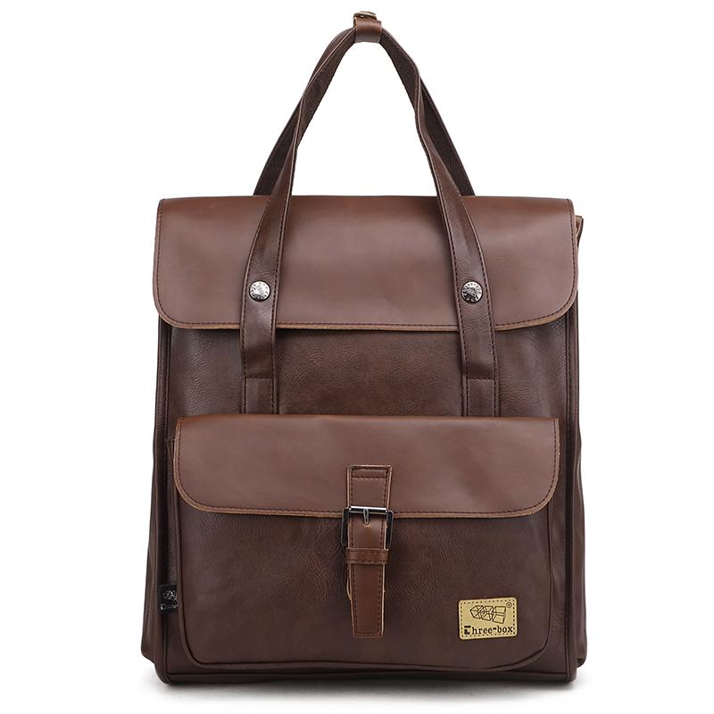 [해외] 쿠팡대박머니 배낭여행가방 홍콩 남자가방 노트북가방 리얼가죽 백팩책가방  다크브라운
