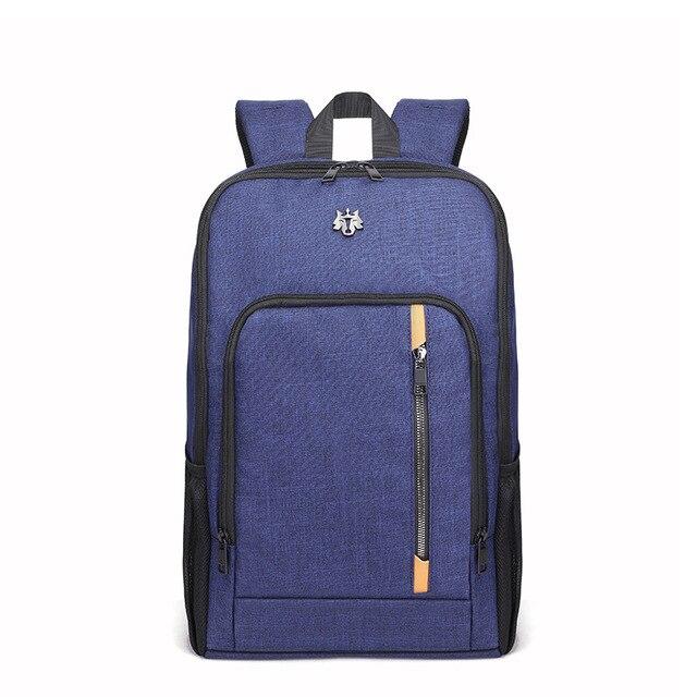 [해외] 캐주얼 남성 배낭 다기능 USB 충전 남성 배낭 노트북 십대 배낭 학생 가방 Mochila 가방  파란