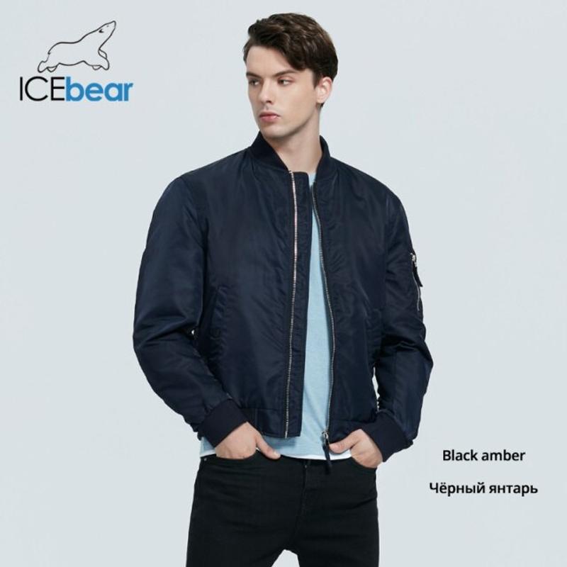 [해외] 남자 숏패딩 코디 바람막이 경량 패딩 숏패딩 ICEbear 2021 새로운 가을 남성 짧은 재킷 패션 비행 코트 남성 의류 고품질 브랜드 재킷 MWC20706D