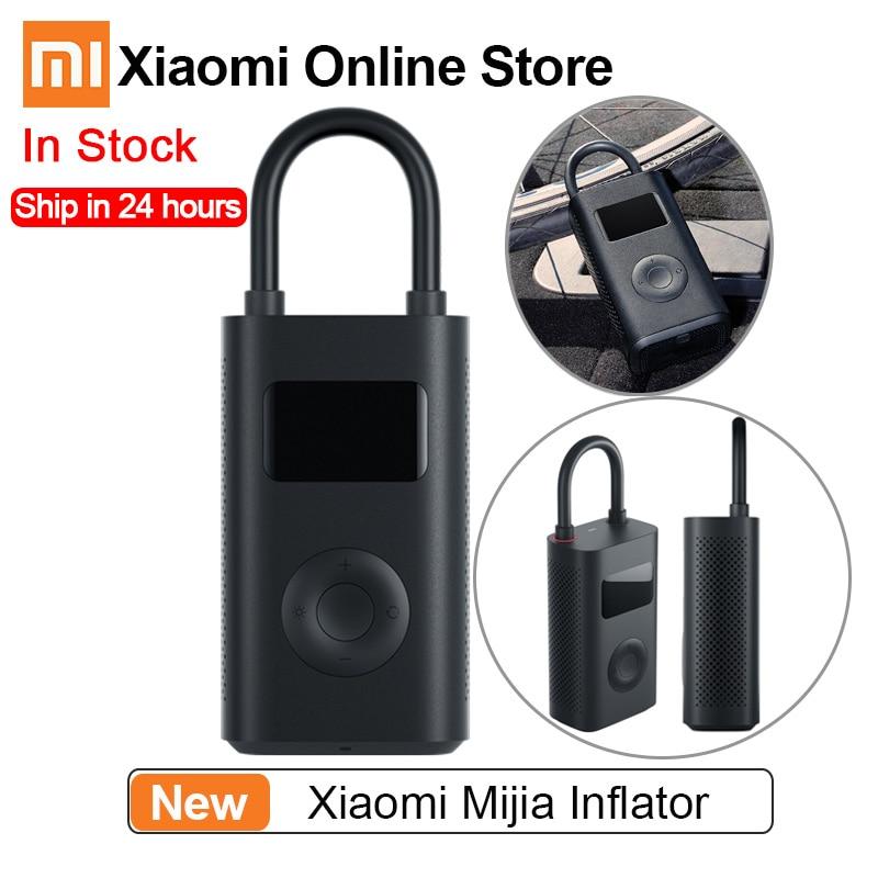 [해외] Xiaomi Mijia Inflator 압력 디지털 모니터링 압축기 타이어 Smart Home 용 휴대용 내장 배터리 멀티 노즐|스마트 리모콘|