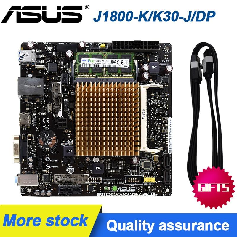 [해외] ASUS ITX 마더보드 J1800 K/K30 J/DP DDR3 4GB 1333 1.35V 17*17 미니보드 통합 듀얼 코어 CPU HDMI PC 메인보드|마더보드  {없음:없음