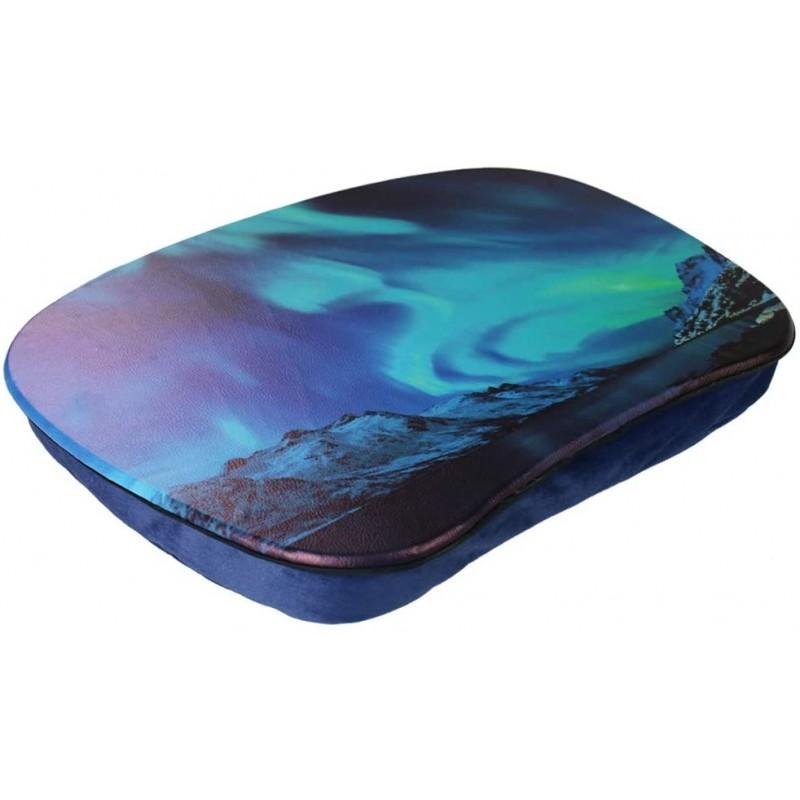 [해외] QIELIZI 랩탑 데스크 - 베개 쿠션이 있는 휴대용 랩톱 데스크 홈 오피스 학생들을 위한 최대 15.6인치 랩탑 컴퓨터 랩탑 스  단일옵션  단일옵션