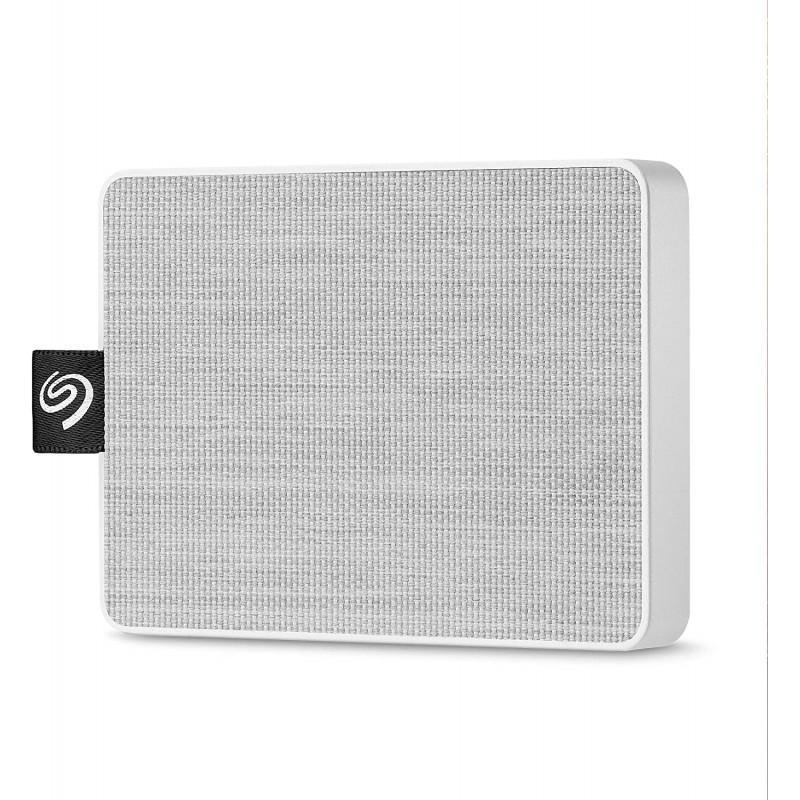 [해외] Seagate 1TB 원터치 SSD 화이트-PC 및 Mac 용 휴대용 외장 솔리드 스테이트 드라이브 (STJE1000402)