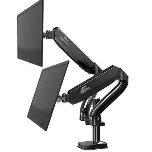 [해외] 아마존 어고트론 베이직 모니터 암 KALOC 받침대 듀얼 노트북 테이블 리프트 회전 탁상  {색상 분류:01 (29kg하중) 듀얼 스크린 효율적인}