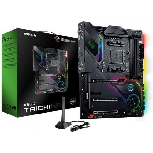 [해외] ASRock AMD Ryzen 5000 시리즈 (Soket AM4) 지원 X570 칩 세트 탑재 ATX 마더보드 X570 Taichi Razer Edit