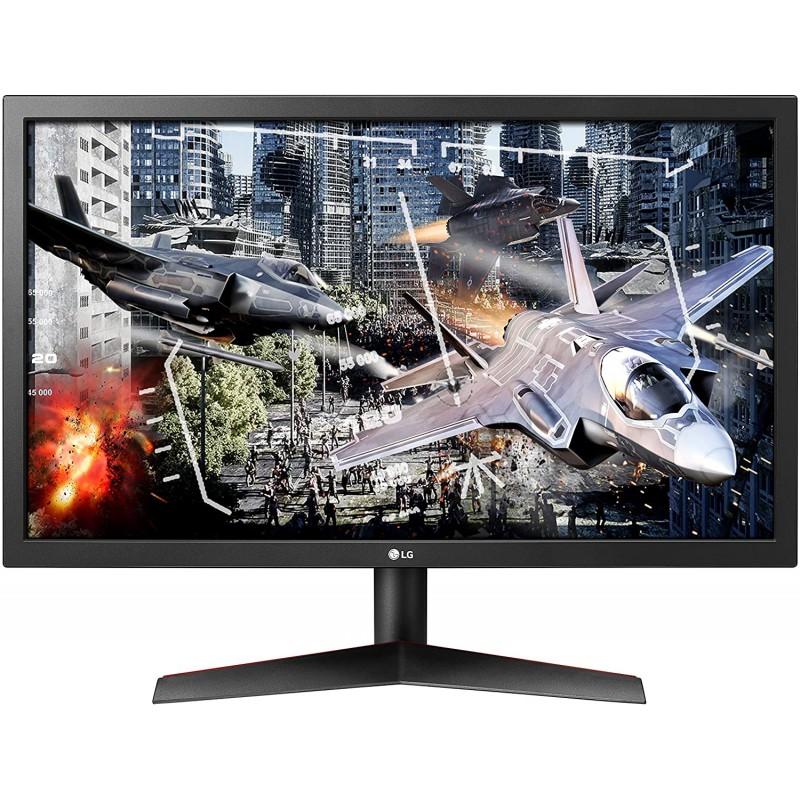 [해외] LG UltraGear 24GL600F-B 24인치 풀 HD 게이밍 모니터(Radeon FreeSync Technology 포함)  144Hz 업데이트 속도  1ms 응답 시