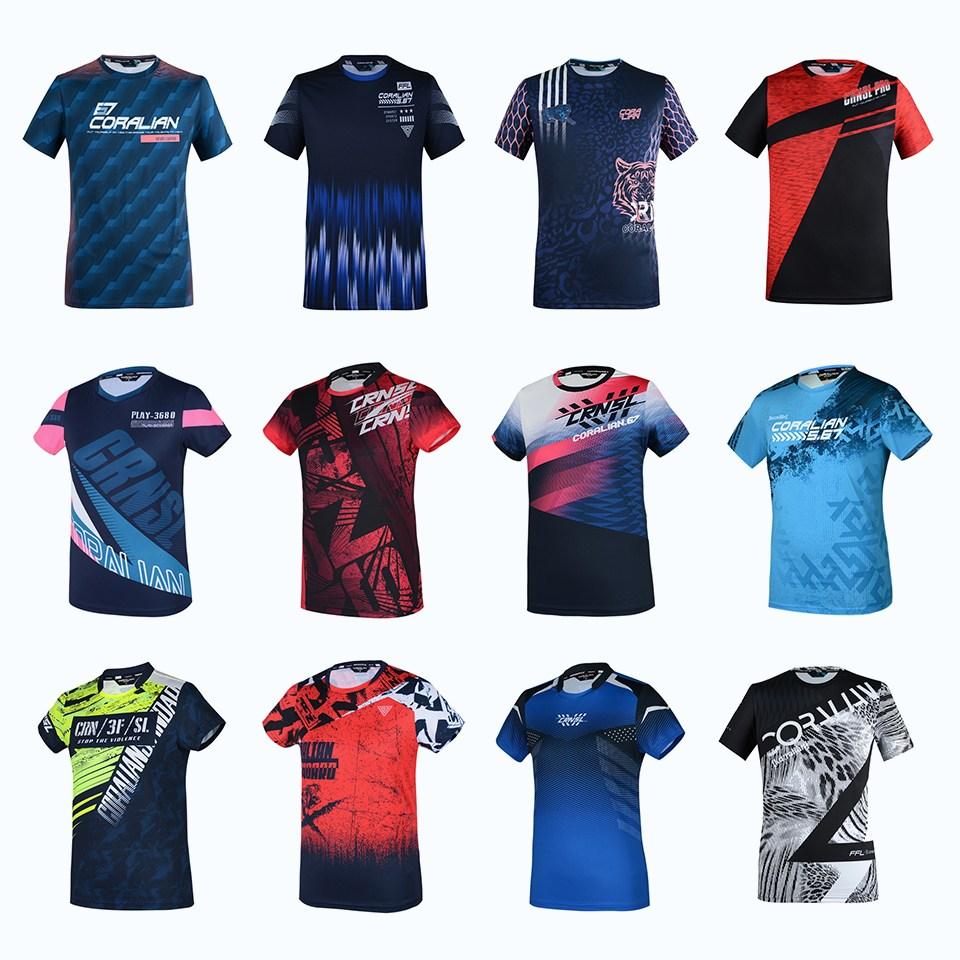코랄리안 의류 기획전 탁구 배드민턴 테니스 티셔츠