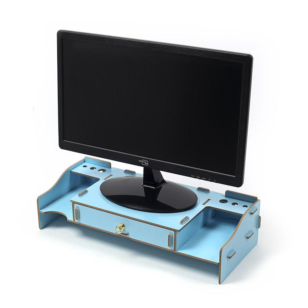 mall2018 2단 컴퓨터 모니터받침대 데스커 온라인수업준비물