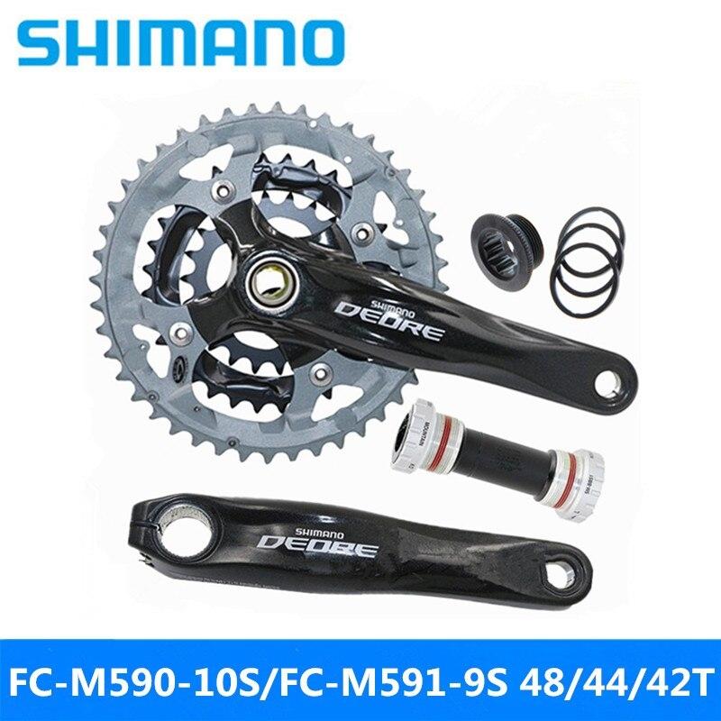[해외] SHIMAN0 DE0RE FC-M590-10S FC-M591-9S 산여행 자전거 중공 싱글 스프로킷 591-9스피드 42T 44T 48T 브랜드계  M590 42T 170mm BB