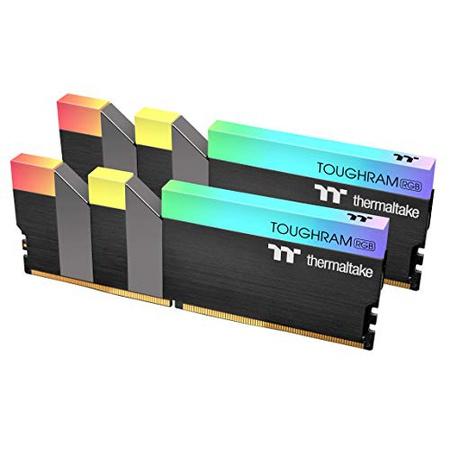 [해외] Thermaltake Toughram RGB DDR4 3000MHz 16GB (8GB x 2) 168 Million 칼라 RGB AlexaRazer Chroma5V 마더보
