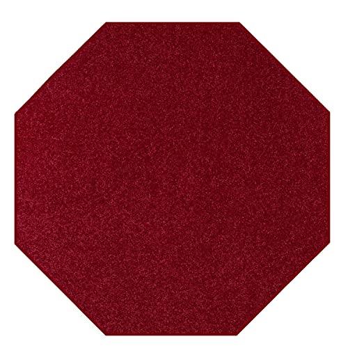 [해외] 솔리드 컬러 옥톤 모양 지역 러그 부르고뉴 - 2 '팔각형 (2' Octagon Burgundy)  2' Octagon  Burgundy