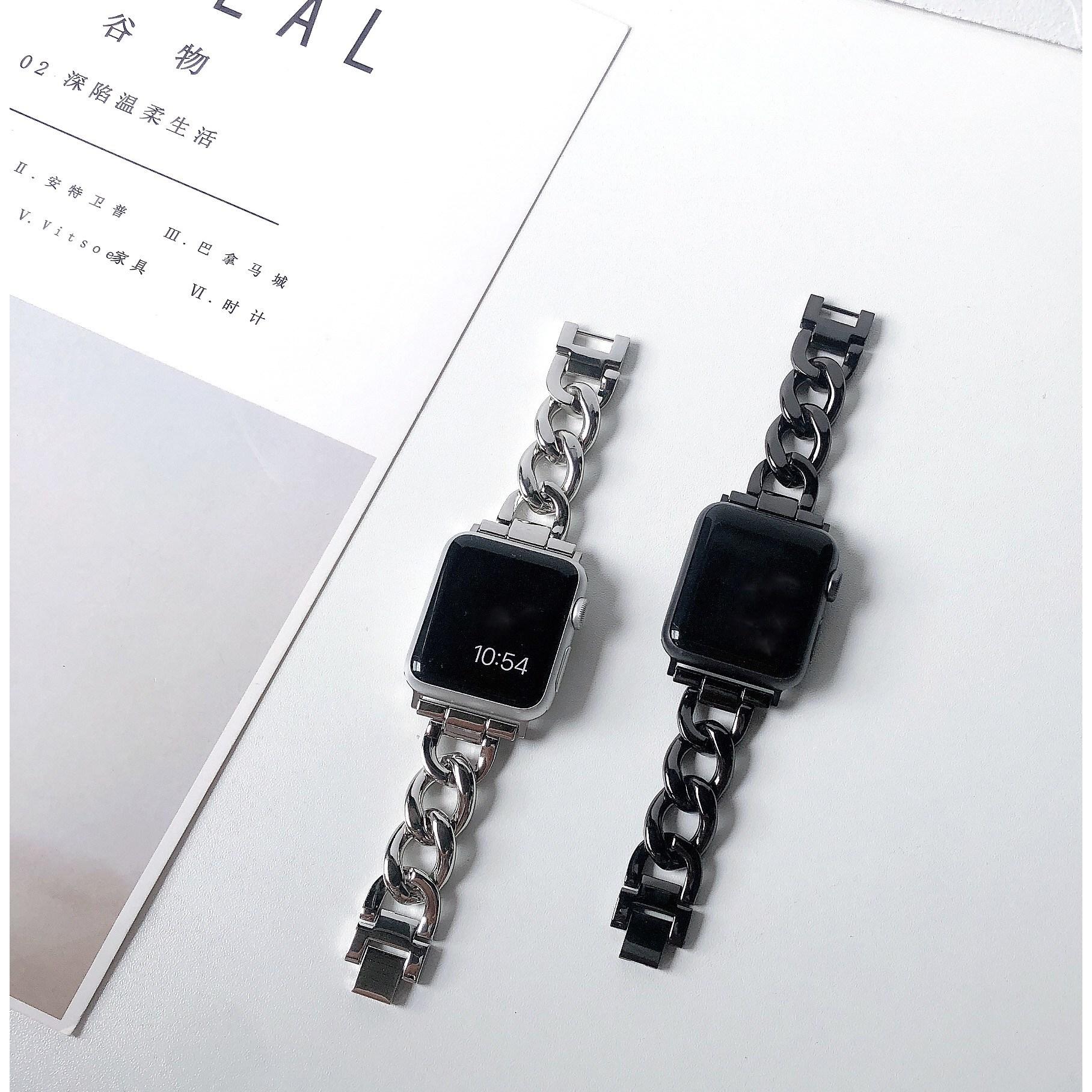 [해외] 애플워치 메탈스트랩 2세대 3세대 12345세대 전기종 호환  {사이즈:38mm}  {타입:로즈 골드 싱글 로우 브레이슬릿}