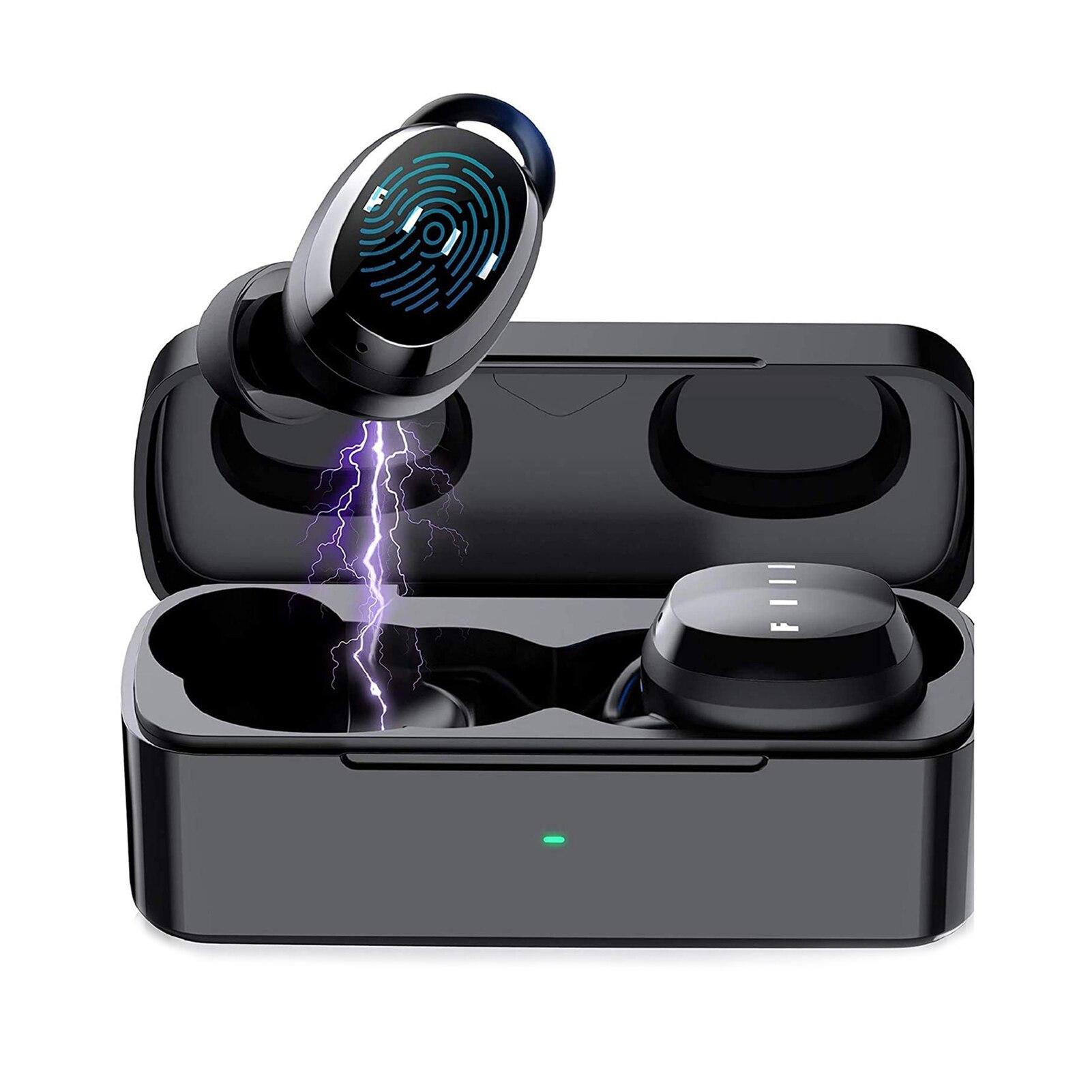 [해외] FIIL T1 XS 진정한 무선 헤드셋 스포츠 블루투스 5.0 에 대한 원본 XIAOMI 아이폰에 마이크와 이어폰 소음 감소  {색상|배송지:Black|CHINA}